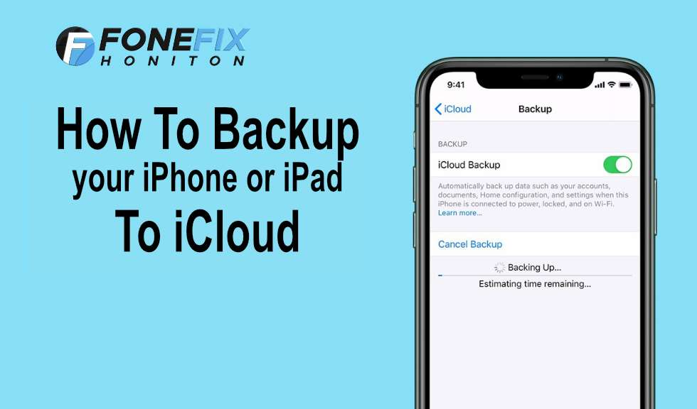 How to back up to iCloud